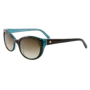 Kate Spade Phyllis Teal Tortoise Cat Sun Glasses